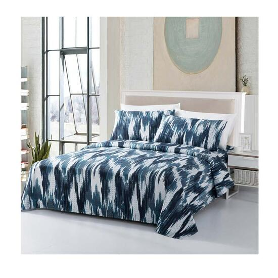 Bamboo Living Navy Blue Ikat Queen Sheet Set - 6pc.