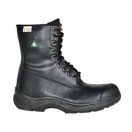 NAT's Best Sellers Black Leather Steel Toe Boot - 10