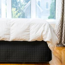 Gouchee Design Black Grid Bedskirt