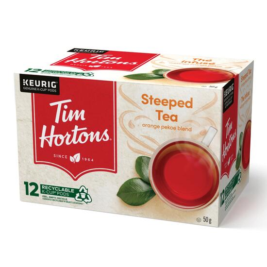 Tim Hortons Orange Pekoe Steeped Tea K-Cup Pods 12pk. - 60g