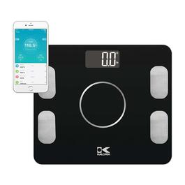 Kalorik Bluetooth Electronic Body Fat Scale with Body Analysis - Black