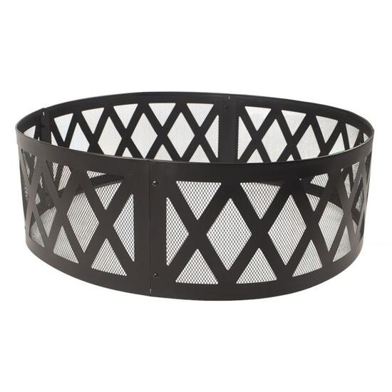 Pleasant Hearth Black Finish Lattice Fire Ring