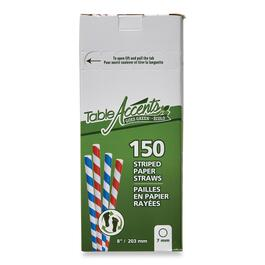 Table Accents Striped Paper Straws 150pk. - 8in.