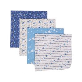 Jesse & Lulu Blue Galaxy Receiving Blanket - 4pk.