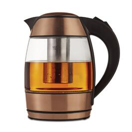 Brentwood Rose Gold Electric Glass Kettle with Tea Infuser - 1.8L