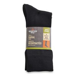 Mountain Ridge Men's Black Casual Socks - 5pk.