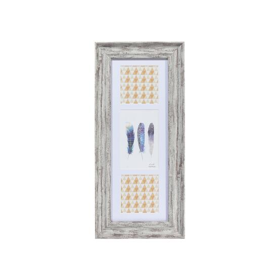 Artisan Grey Photo Frame, 3 Inserts