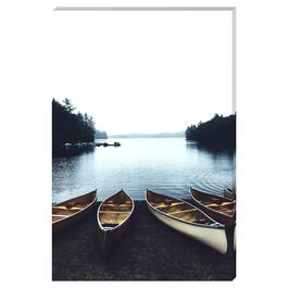 Boats on the Lake Canvas Art - 24in. x 36in.