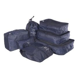 Nicci Navy Luggage Organizer Set - 7pc.