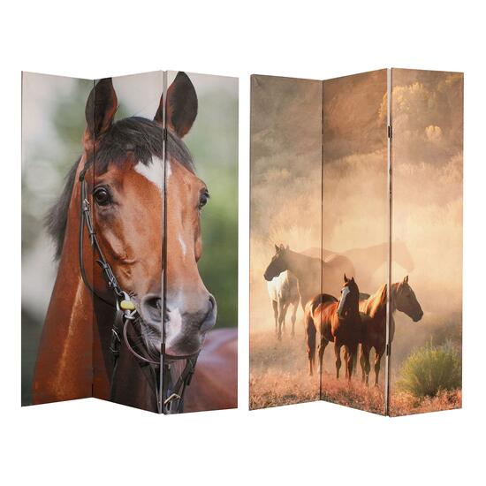 iH Casadecor Double-Sided Horse Canvas Screen