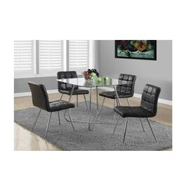 Monarch Specialties Dining Table with Tempered Glass