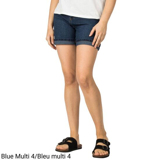 mySTYLE Women's Exposed Button Mom Shorts - 4-14