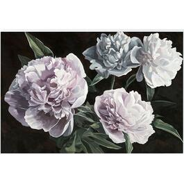 Wild Flowers on Black ll Canvas Art - 36in. x 24in.