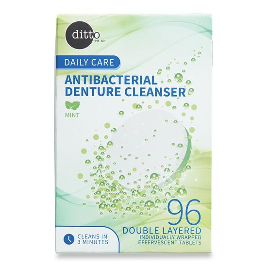 Ditto Daily Care Anti-Bacterial Denture Cleanser - 96pk.