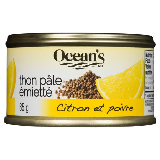 Ocean's Flaked Light Tuna Lemon & Pepper - 85g