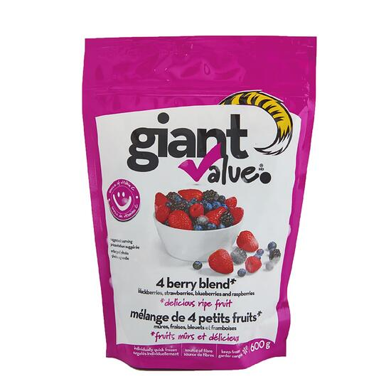 Giant Value Frozen 4 Berry Blend - 600g