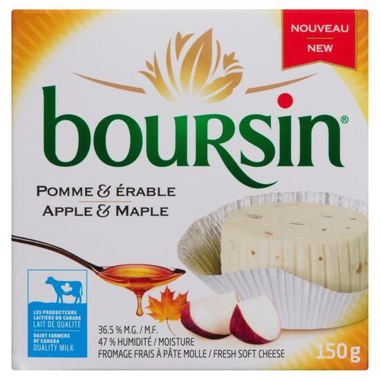 Boursin Fresh Apple and Maple Soft Cheese 36.5% M.F. - 150g