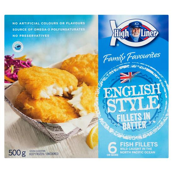 High Liner Family Favourites English Style  Battered Fish Fillets - 500g