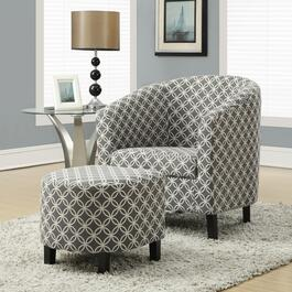 Monarch Specialties Inc. Grey Accent Chair and Ottoman - 2pc.