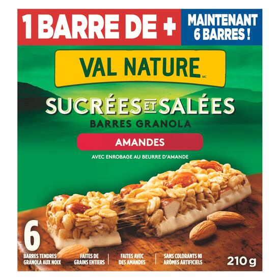 Nature Valley Sweet and Salty Almond Granola Bars 6pk. - 210g