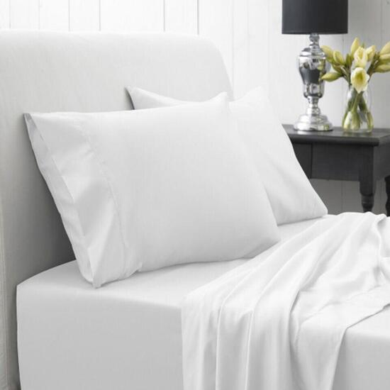 Spa 3 Piece Twin Sheet Set - White