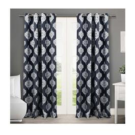 Exclusive Home Medallion Blue Blackout Thermal Curtain Panels - 2pc.