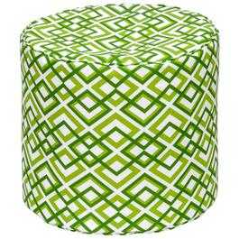 Henryka Green Outdoor Round Pouf - 17in.