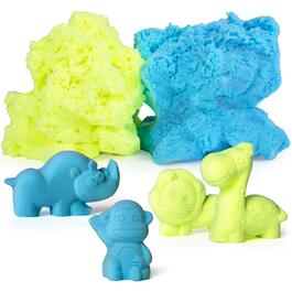 USA Toyz Moosh Fluffy Clay with Animal Sand Molds - 10pc.