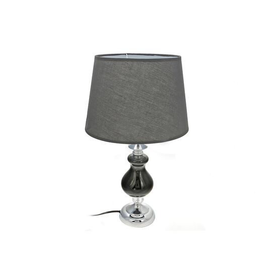 Black Orb Ceramic Table Lamp with Shade