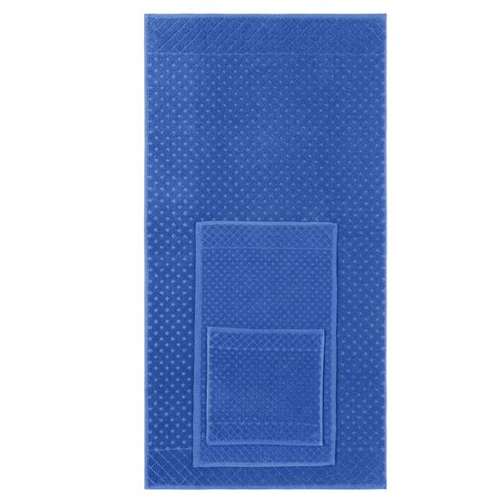 Safdie & Co. Blue Jacquard Diamonds Towel Set - 6pc.