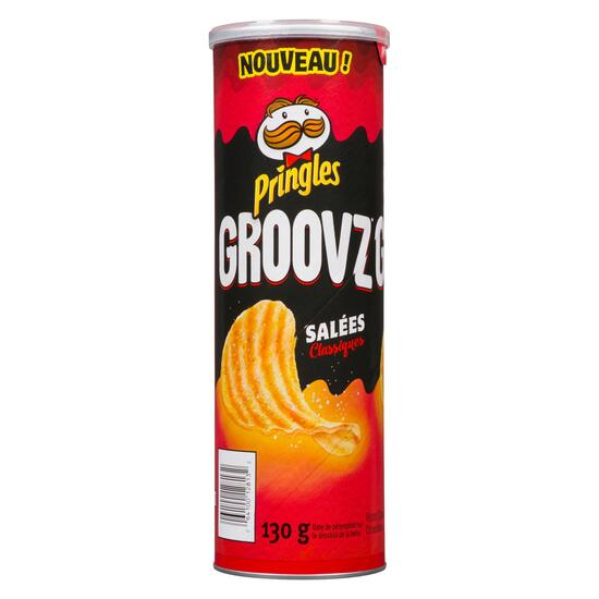 Pringles Groovz Classic Salted Potato Chips - 130g