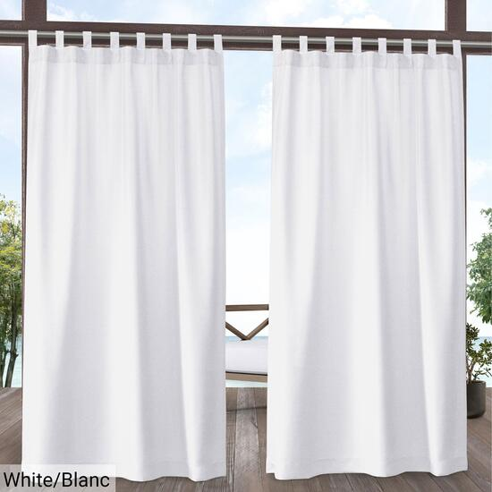 Exclusive Home Biscayne Two Tone Curtain Panel 2pc. - 96in.