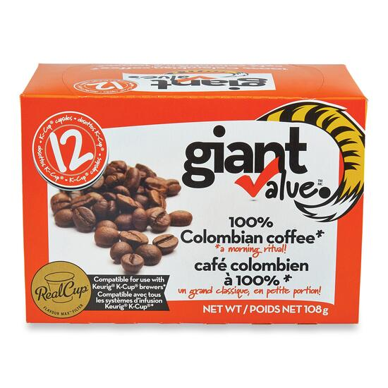 Giant Value Colombian Blend K-Cup Coffee Pods - 12pk.