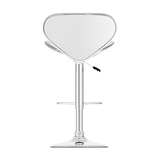 CorLiving Curved Form Fitting White Adjustable Bar Stool  - Set of 2