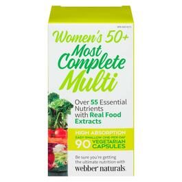 Webber Naturals Women's 50+ Most Complete Multi-Vitamin - 90 Vegetarian Capsules