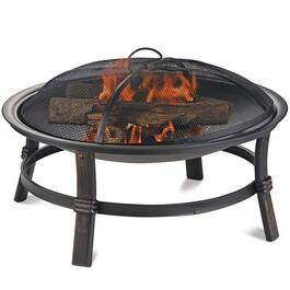 ENDLESS SUMMER Brushed Copper Wood Burning Firebowl