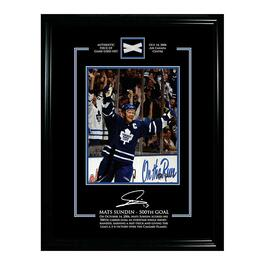 Frameworth Official Game Net Frame - Mats Sundin - Toronto Maple Leafs