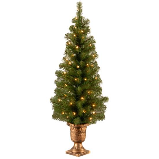 National Tree Montclair Spruce Entrance Tree with Clear Lights -4ft
