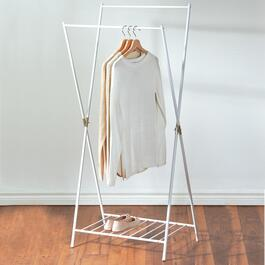 T2 HS WHITE METAL GARMENT RACK