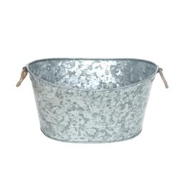 Galvanized Oval Bucket with Handle - 17in.