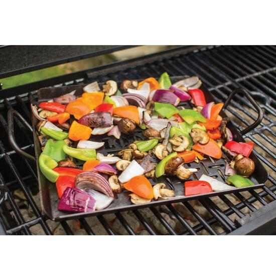 Lodge Seasoned Carbon Steel Grilling Pan - 12in.