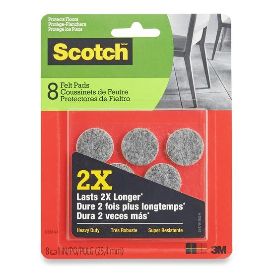 Scotch Round Brown Felt Pads - 8pk.