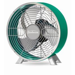Sunbeam Teal Retro Metal Fan - 9in.