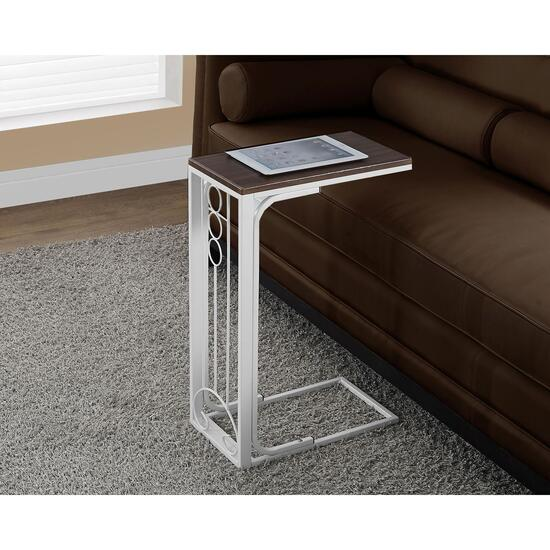 Monarch Specialties Inc. Accent/Tray Table - Cherry and White