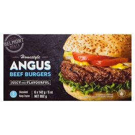 Belmont Meats Homestyle Angus Beef Burgers - 852g