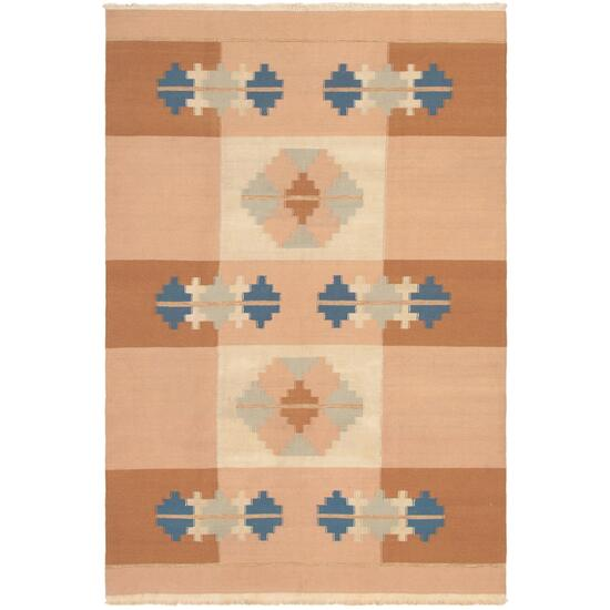 ecarpetgallery Hand-Woven Brown Tribal Gabbeh Kilim Rug - 9ft.