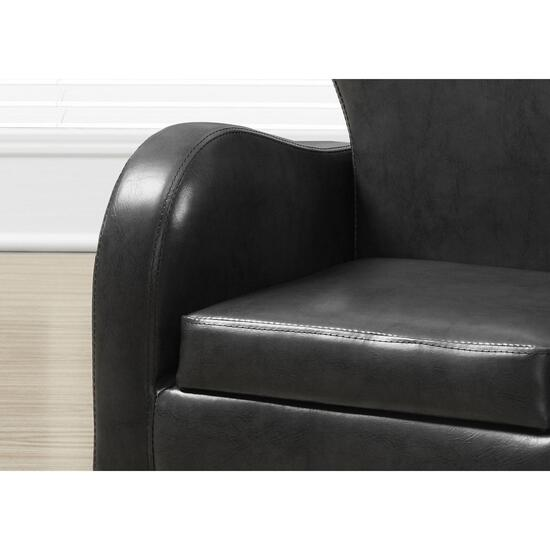 Monarch Specialties Charcoal Juvenile Chair