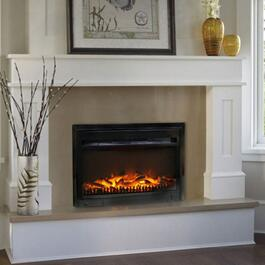 Paramount Gloss Black Electric Fireplace Insert - 25in.