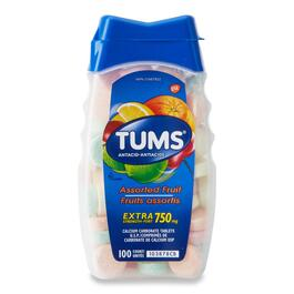 TUMS Extra Strength Assorted Fruit Antacid Tablets - 750mg