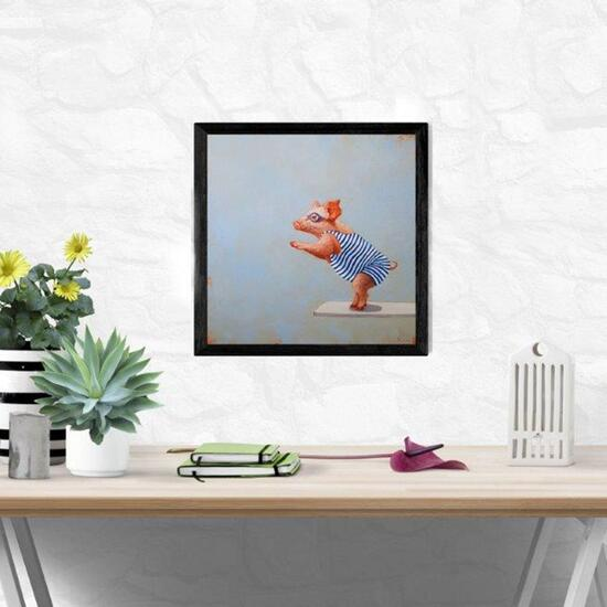 Lucia Heffernan The Plunge Framed Print - 18in.x14in.